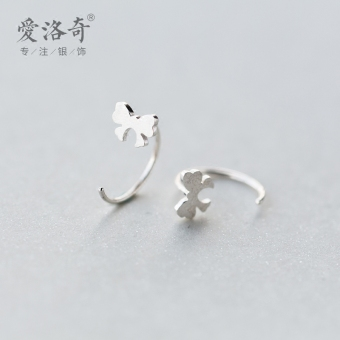 A'ROCH Korean-style brushed female Cooljie ear ring silver ear ring