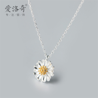 A'ROCH Korean-style flowers choker silver necklace