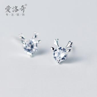 A'ROCH Korean-style Women's Singles diamond stud silver stud