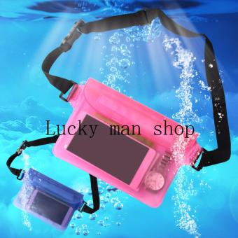 AS SEEN ON TV Outdoor Waterproof Transparent Waist Bag SwimmingBeach Dry Bag for Mobile Phone Random color delivery