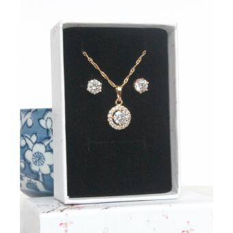 Athena & Co. 18K Gold Plated Alicia Solitaire Diamond Set - 2