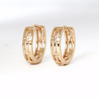 Athena & Co. 18K Gold Plated Janine Hoop Earrings