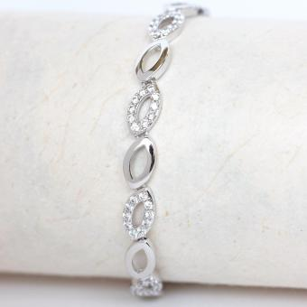 Athena & Co. 18K White Gold Plated Nylah Tennis Bracelet
