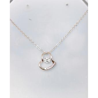 Athena & Co. 18K White Gold Plated Rachel Open Heart Pendant Necklace
