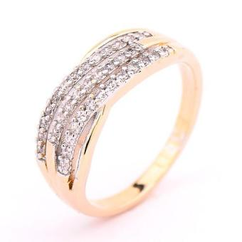 Athena & Co. 22k Gold Plated Two Tone Isabelli Ring