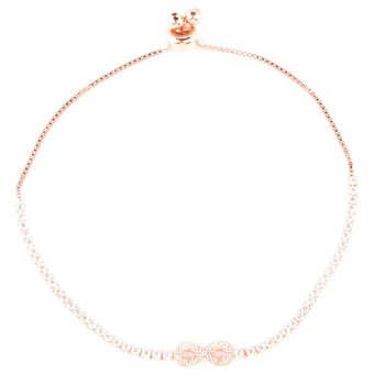 Athena & Co. Infinity Toggle Bracelet (Rose Gold)