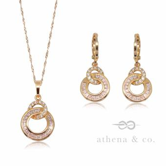 Athena and Co. 22k Gold Plated Elizabeth Jewelry Set
