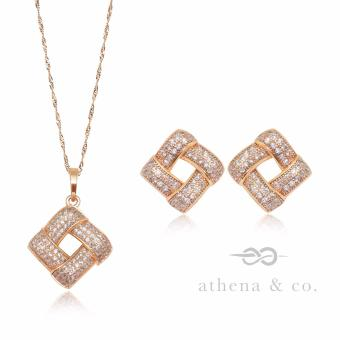 Athena and Co. 22k Gold Plated Megan Jewelry Set