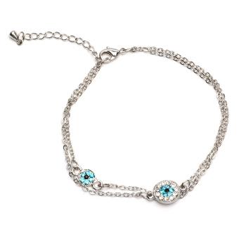 Athena & Co. Evil Eye Bracelet (Silver)