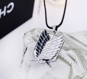 Attack On Titan Shingeki no Kyojin Metal Necklace Pendant - intl