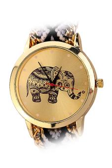 Aukey Geneva Elephant Bracelet Bohemian Gray Wristwatch