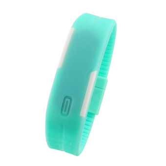 Aukey Men LED Sport Bracelet Touch Digital Wrist Watch (mint green)
