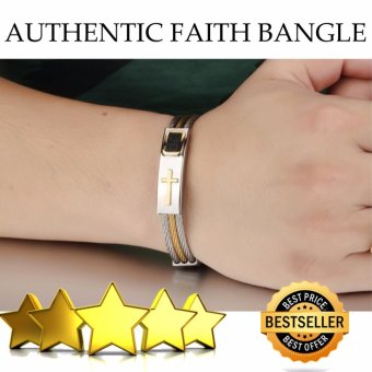 Authentic Cross Jesus Premium Stainless Steel Bracelet 18k Gold Plated (A1)