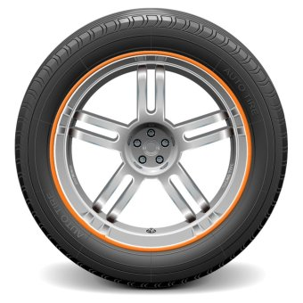 Auto Car Wheel Hub Rim Edge Rubber Strip orange - intl
