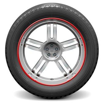 Auto Car Wheel Hub Rim Edge Rubber Strip red - intl