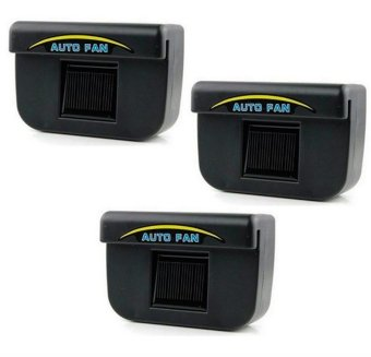 Auto Cool Solar Powered Air Cooler Ventilation Set of 3