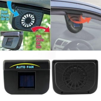 AutoCool Solar Car Window Fan Auto Ventilator Cooler Air Vent Vehicle Radiator * - intl