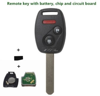 Autoleader 2003-2007 Remote Key with Chip ID46 433 MHz for Honda Accord FIT Civic Odyssey 3 (2+1) Buttons Keyless Entry Fob Car Alarm Case - intl