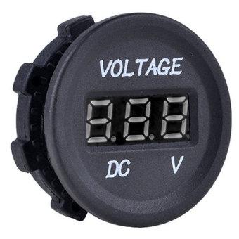 Automobile Motorcycle Car LED Digital Voltmeter (Black) - picture 2