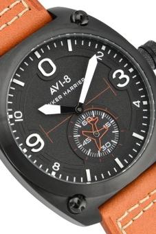 AVI-8 HAWKER HARRIER II AV-4026-05 Men's Orange Genuine Leather Strap Watch - intl - 2