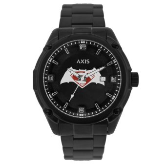 Axis Limited Edition Batman-Superman Men'S Black Stainless Steel Strap Watch Ah1275-0218