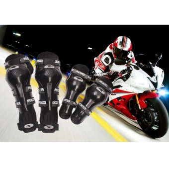 Axo Motorcycle Racing Riding Knee & Elbow Guard Pads protectorGear Black