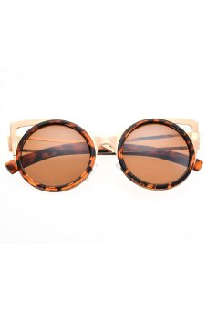 AZONE Women's Round Lens Full Frame Sunglasses (Leopard) - picture 2