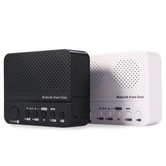Baffect Wireless Desktop Bluetooth Alarm Clock Stereo Speaker with FM Radio Supported TF Card (Black)(...) - intl - 3