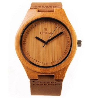 Bamboo pure wood watches for men and women bamboo Watch LeatherWatch - intl - 2