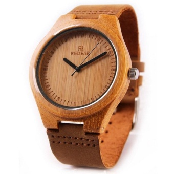 Bamboo pure wood watches for men and women bamboo Watch LeatherWatch - intl