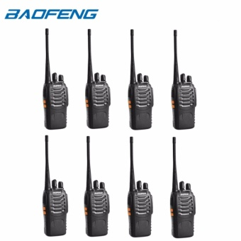 Baofeng BF-888S VHF/UHF FM TRANSCEIVER Portable Walkie-Talkie Two-Way Radio SET OF 8