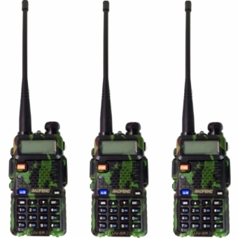 Baofeng/Pofung VHF/UHF Dual Band Two-Way Radio With Earpiece Set of3(Camouflage)UV5R