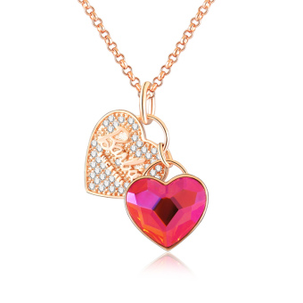 Barbie heart artificial crystal zircon necklace