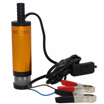 BAYM(R) DC 12V Submersible Pump 38mm Water Oil Diesel Fuel TransferRefueling On/Off Switch Car Van Stainless Steel Gold - intl