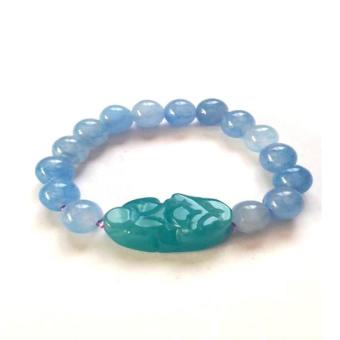 Be Lucky Charms Feng Shui Aquamarine Money Catcher Pi Yao Bracelet
