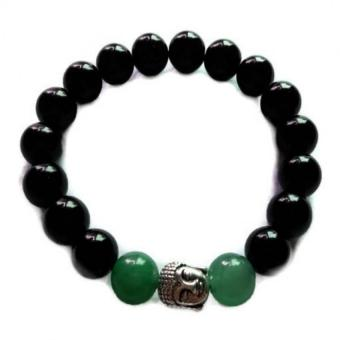 Be Lucky Charms Feng Shui Black Onyx & Jade with Healing Buddha