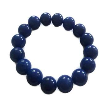 Be Lucky Charms Feng Shui Blue Onyx Big Bead Bracelet