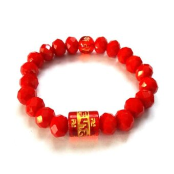 Be Lucky Charms Feng Shui Crystal with Protection Mantra Bracelet