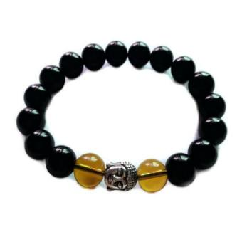 Be Lucky Charms Feng Shui Onyx & Citrine with Healing Buddha