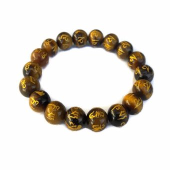 Be Lucky Charms Feng Shui Tiger Eye all Protection Mantra Stone Bracelet