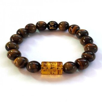 Be Lucky Charms Feng Shui Tiger Eye with Protection Mantra Bracelet (Tiger Eye)