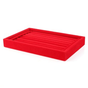 Beauty Jewellery Ring Necklace Display Storage Box Tray Holder Organizer Case-red - Intl - picture 2