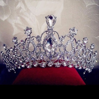 Beauty Pageant Queen Rhinestone Bridal Wedding Prom Tiara Comb Crown Fashion USA Silver - intl