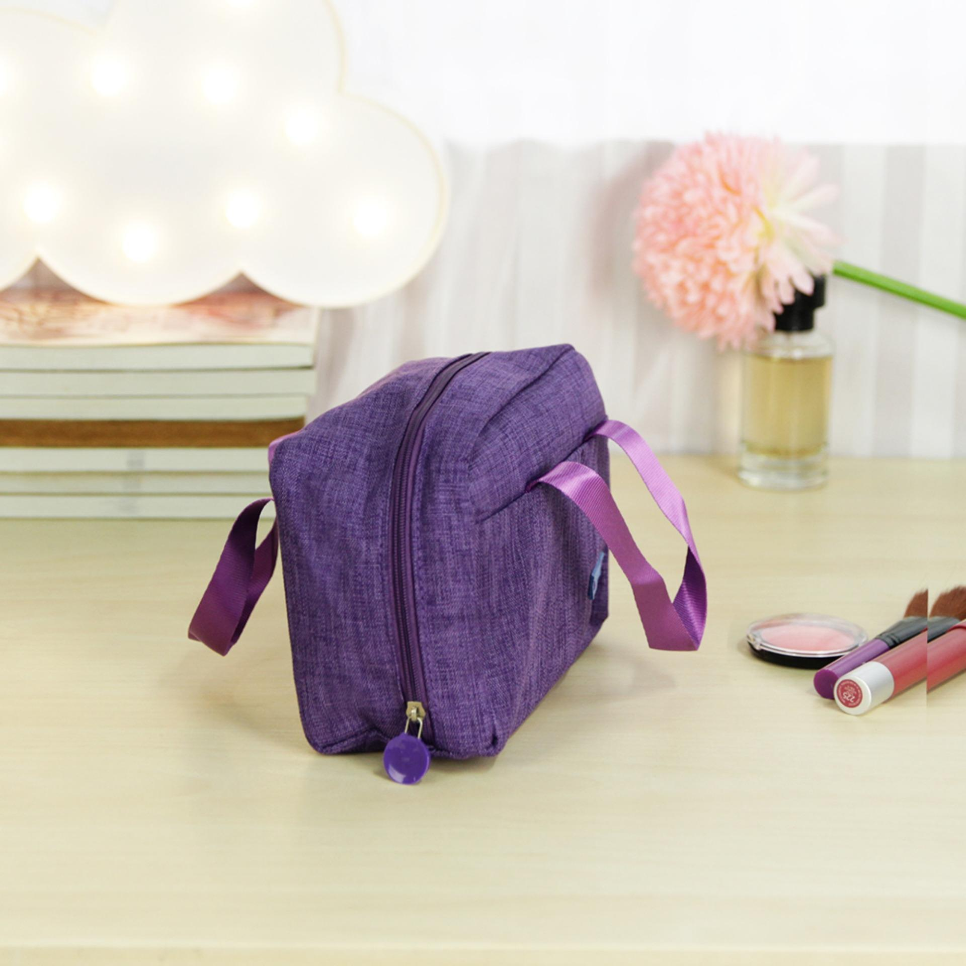 Beauty Tools Make Up Kit Cosmetic Toiletry Pouch Bag ( Purple ) BUY 1 TAKE 1