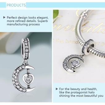 BELAWANG Moon Star Pendant Beads Fit Charms Silver 925 OriginalBracelet Fashion DIY Jewelry Making NEW Christmas Gift - intl - 3