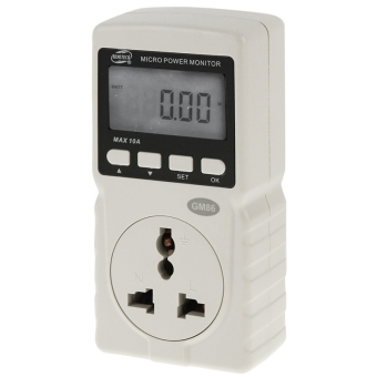BENETECH GM86 LCD Display Micro Power Monitor Energy Meter, AU Plug(Beige)