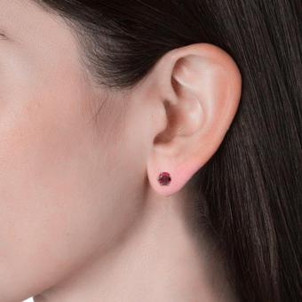 Birth Stone Earrings (January) - Crystals from Swarovski - 4