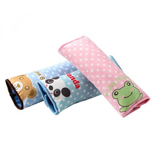 Biubee 3 Pack Seatbelt Pillow Car Seat Belt Strap Covers For Kids Adjustable