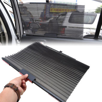 Black Auto Car Folding Foldable Side Window Windshield Sun ShadeVisor Valance - Intl