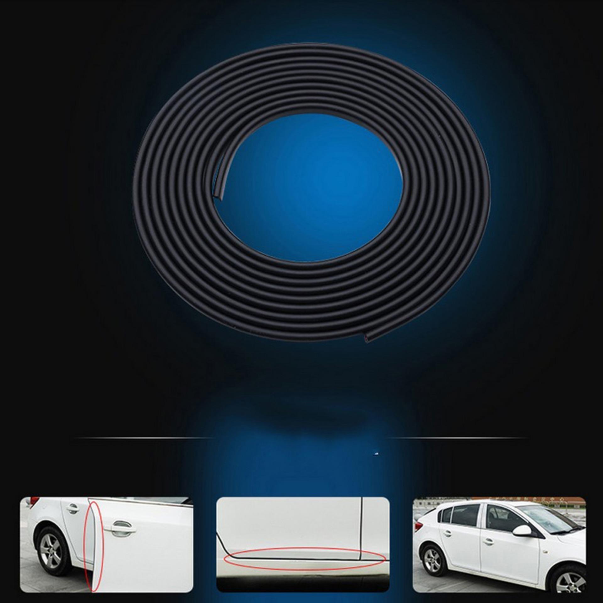 Black Car Door Sealing Bumper Trim Strip Scratch Protector EdgeGuard Cover Anti Wear Rubber Strip ...